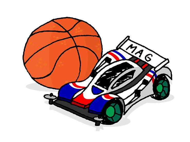 小学校男子の遊び「バスケットボール」と「ミニ四駆」