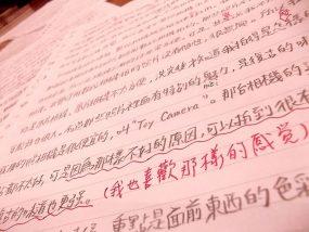 中国語で作文の練習