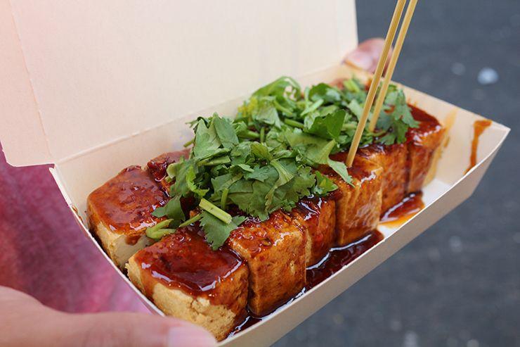 台湾夜市名物「臭豆腐」