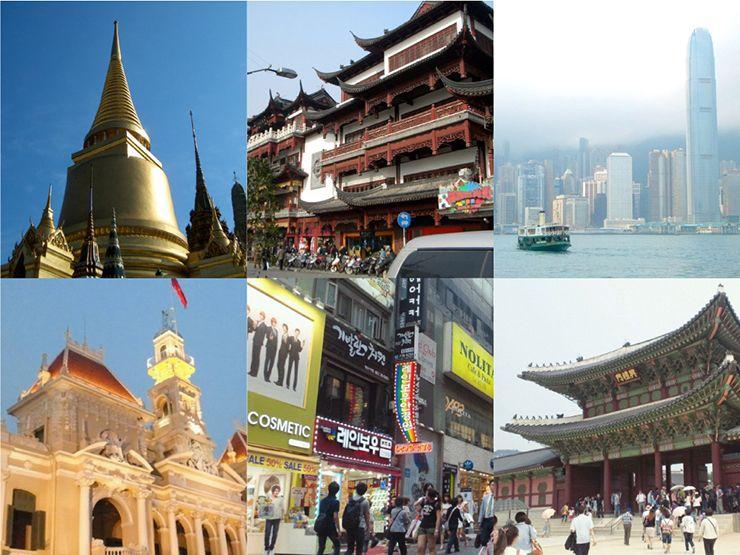 アジア各国への旅行