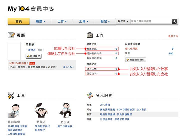 台湾の就職サイト「104」履歴書の書き方_29