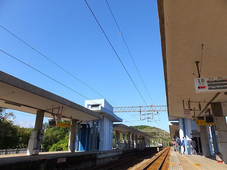台北・福隆駅のプラットフォーム