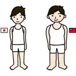 日本男子と台湾男子の体型比較