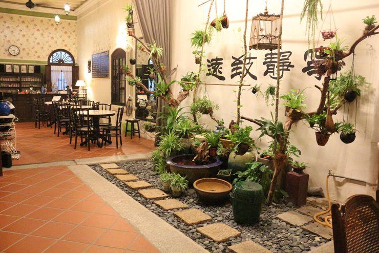 マレーシア・ジョージタウンのゲストハウス「Carnarvon House」の中庭
