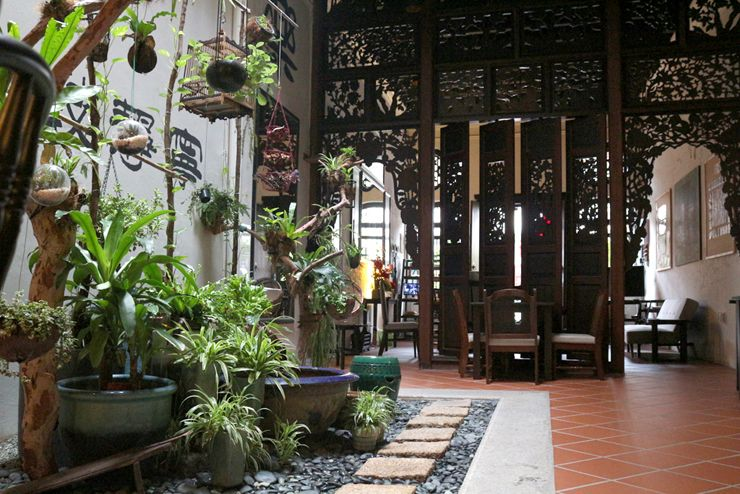 マレーシア・ジョージタウンのゲストハウス「Carnarvon House」のエントランス
