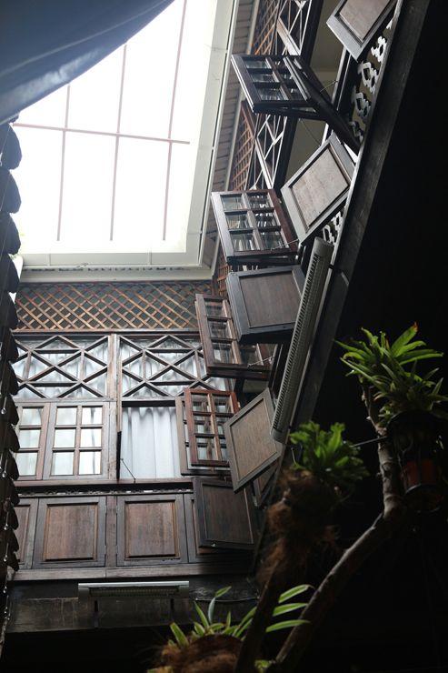 マレーシア・ジョージタウンのゲストハウス「Carnarvon House」の吹き抜けホール