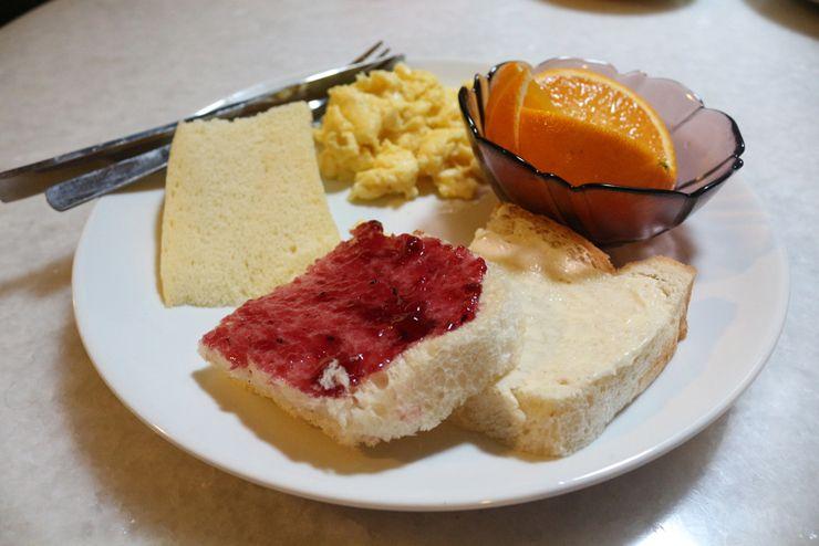 マレーシア・ジョージタウンのゲストハウス「Carnarvon House」の朝食