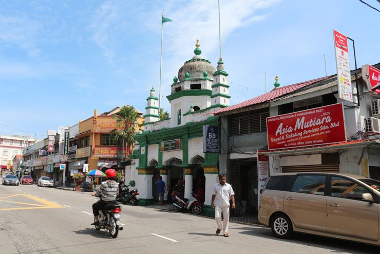 マレーシア・ジョージタウン「リトルインディア」のモスク