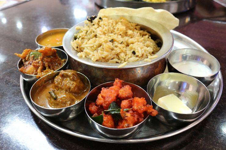 マレーシアのインド系料理「Thali Biryani」
