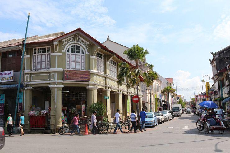 マレーシア・ジョージタウン「リトルインディア」周辺の街並み