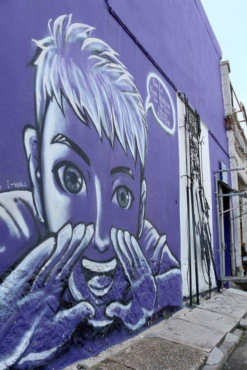 マレーシア・ジョージタウンで出会ったウォールアートの男の子