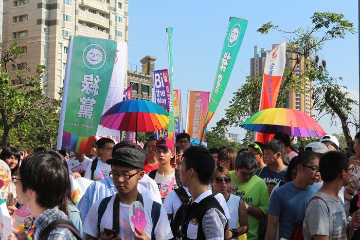 台中LGBTプライド2015に参加する政党「綠黨」