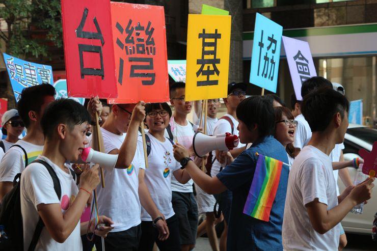 台中LGBTプライド2015に参加するグループ