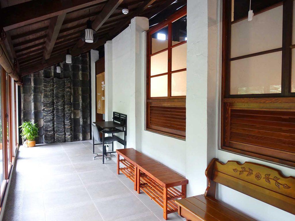 台北・北投温泉のおすすめ「瀧乃湯」の建物内