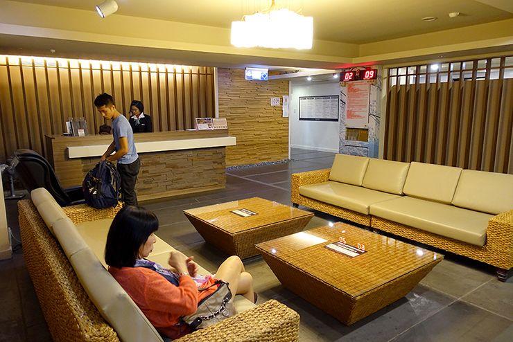 台北・北投温泉「熱海大飯店」の大浴場休憩スペース