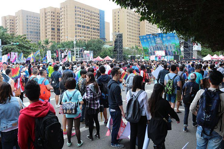台灣同志遊行(台湾LGBTプライド)2015の集合場所