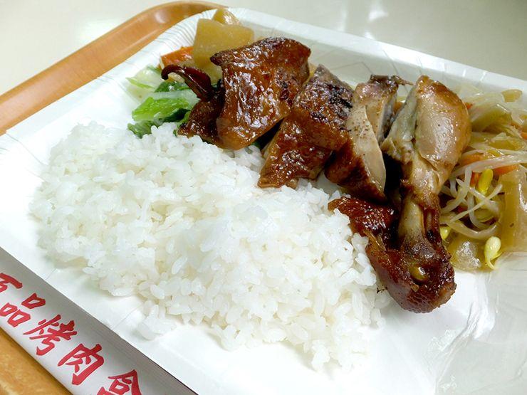 台北・大安「百品烤肉」の雞腿飯