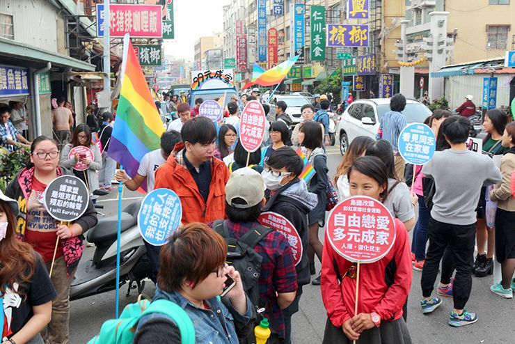 彩虹台南遊行(台南LGBTプライド)2015のパレード参加者