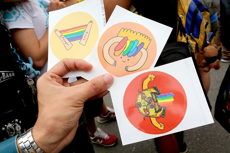 彩虹台南遊行(台南LGBTプライド)2015のパレードオリジナルシール