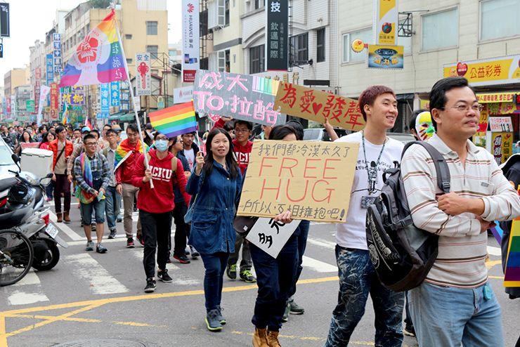 彩虹台南遊行(台南LGBTプライド)2015のパレード隊列