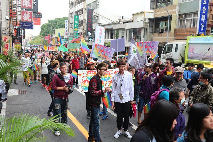 彩虹台南遊行(台南LGBTプライド)2015のパレード