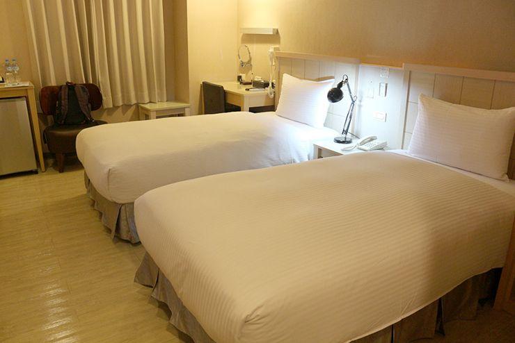 台南のビジネスホテル「碳佐麻里商務旅店」のツインルーム