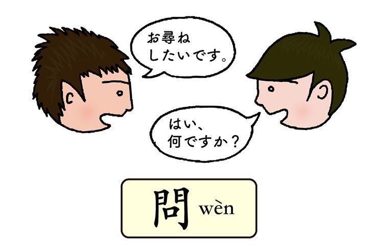 中国語の発音「問」(四声)