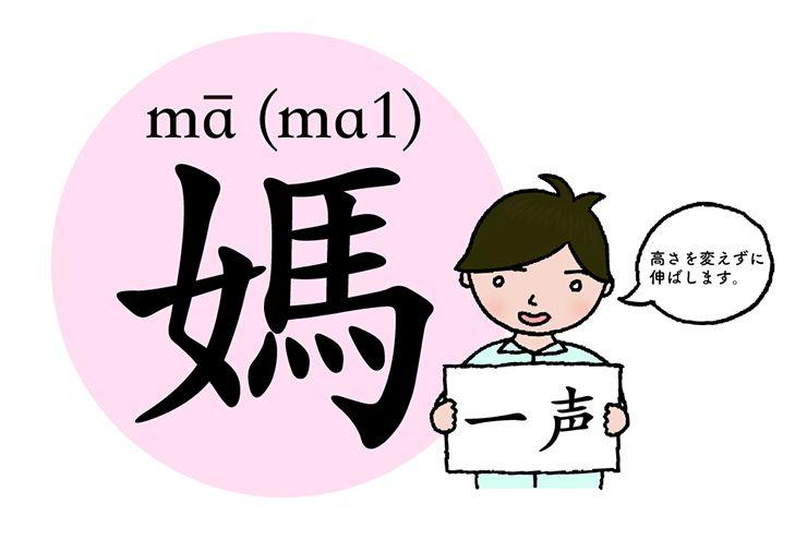 中国語発音の基本「媽」(一声)