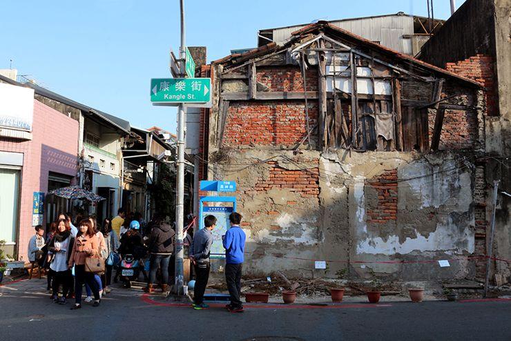 台南の有名観光スポット「神農街」にある古い建物