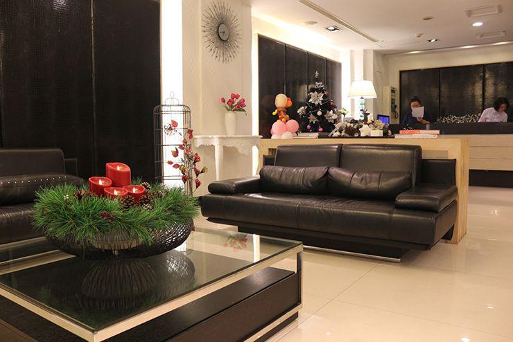 台南のビジネスホテル「碳佐麻里商務旅店」のロビー