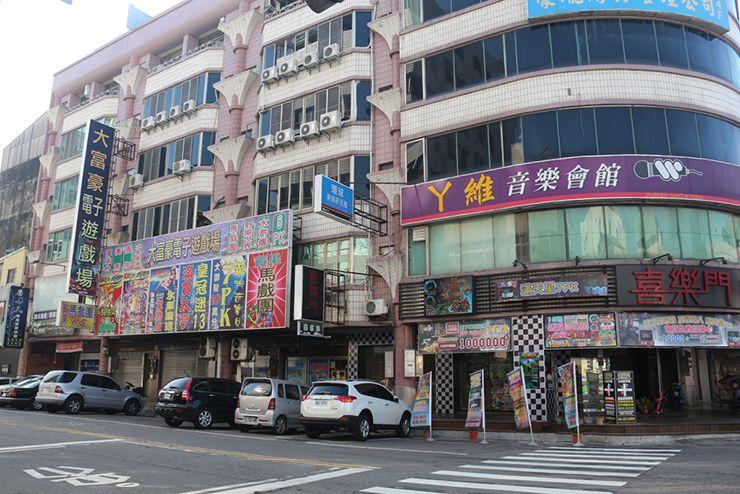 台南のビジネスホテル「碳佐麻里商務旅店」の周辺