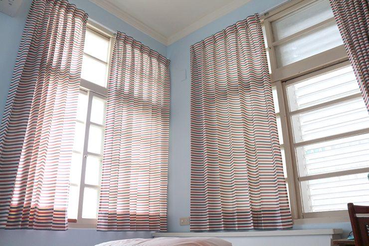 花蓮のLGBTフレンドリーゲストハウス「桂憩 Sweet Olive」ダブルルームの窓