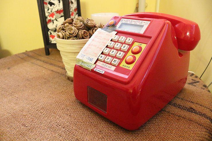 花蓮のLGBTフレンドリーゲストハウス「桂憩 Sweet Olive」の共用電話