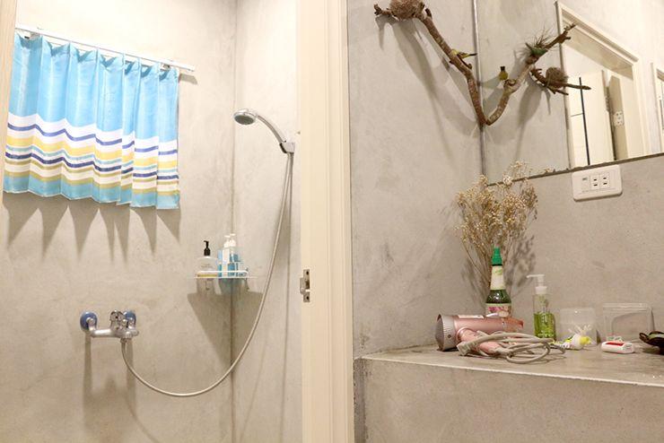 花蓮のLGBTフレンドリーゲストハウス「桂憩 Sweet Olive」の一階シャワールーム
