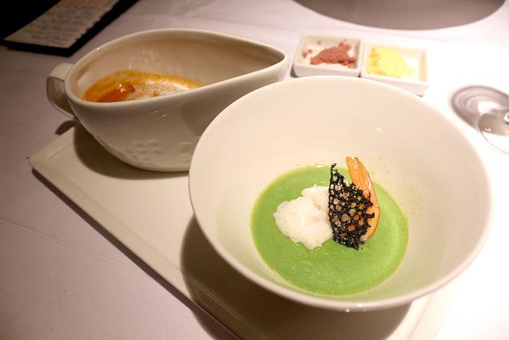 台湾の高級ステーキチェーン「王品 Wang Steak」のスープ
