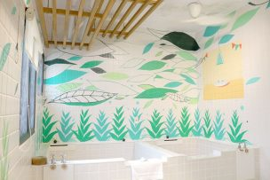 宜蘭・礁溪温泉「蔥澡 Hot Spring Onion」の浴槽が2つある個室風呂