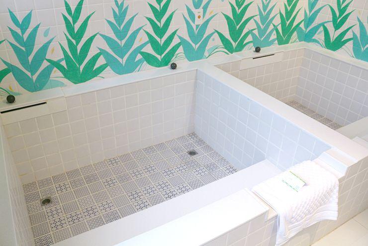 宜蘭・礁溪温泉「蔥澡 Hot Spring Onion」個室風呂の浴槽