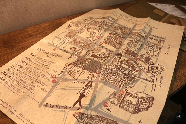 台北・西門町のLGBTフレンドリーホテル「町・記憶旅店 Cho Hotel」行政套房(Executive Double)のオリジナルデザインマップ