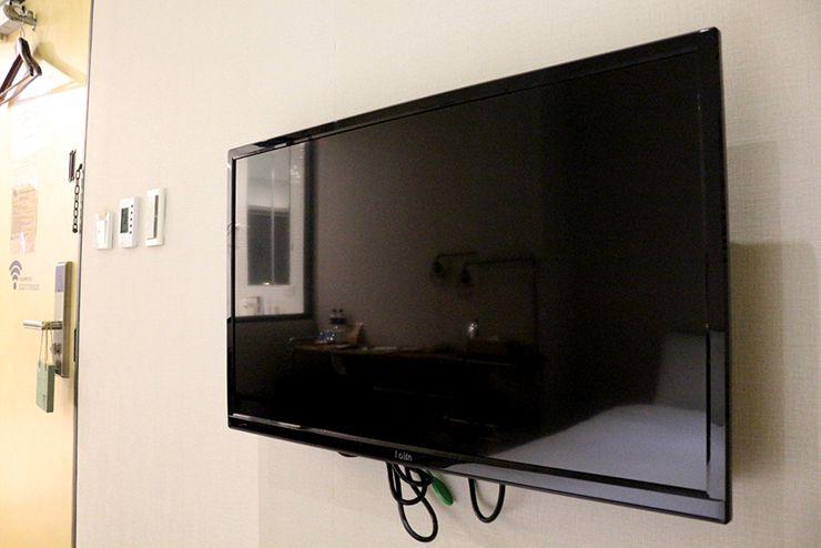台北・西門町のLGBTフレンドリーホテル「町・記憶旅店 Cho Hotel」行政套房(Executive Double)のテレビ