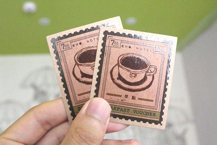 台北・西門町のLGBTフレンドリーホテル「町・記憶旅店 Cho Hotel」の朝食チケット