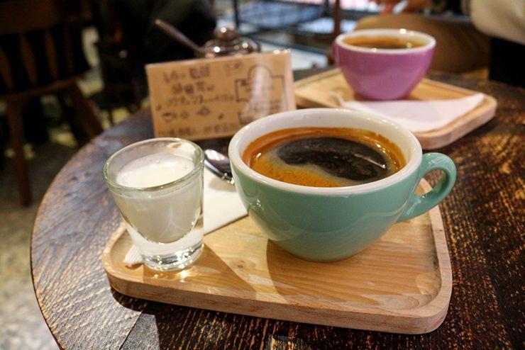 台北・西門町のLGBTフレンドリーホテル「町・記憶旅店 Cho Hotel」のカフェでいただけるコーヒー