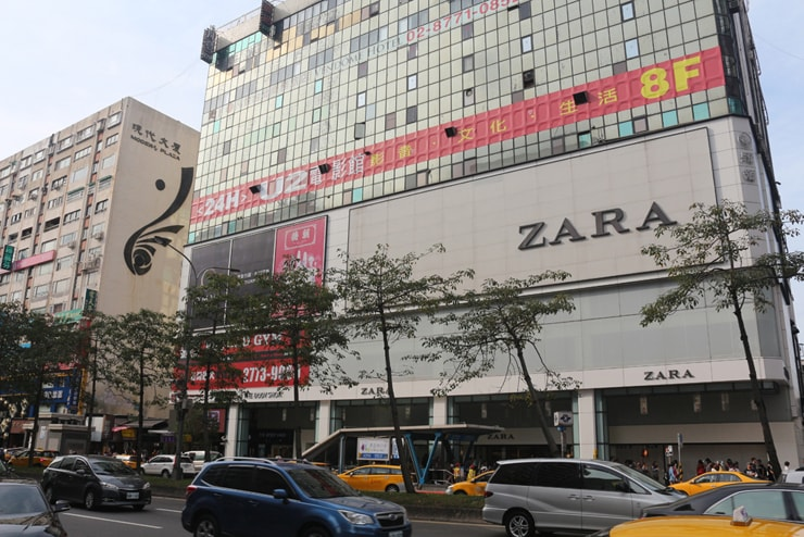 台北のおしゃれタウン・東區「忠孝敦化」駅前のZARA