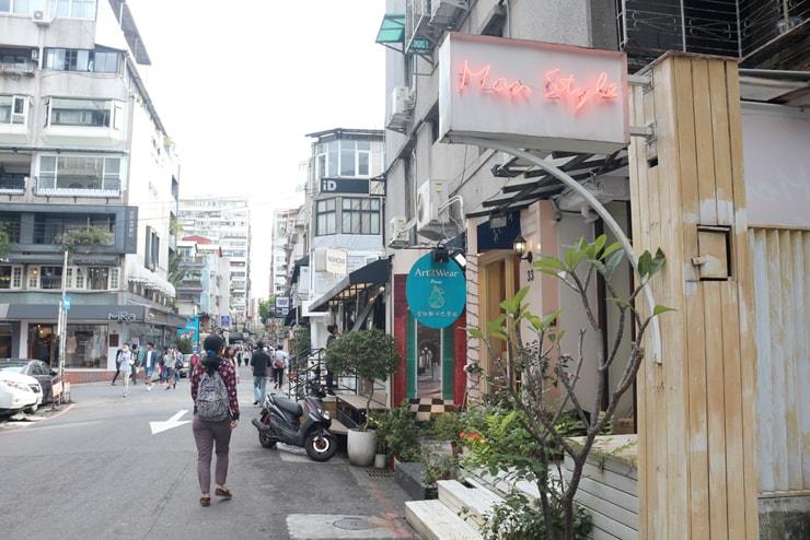 台北のおしゃれタウン・東區に並ぶ小さなショップたち
