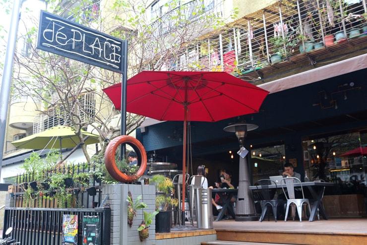 台北のおしゃれタウン・東區のカフェ「de PLACE」