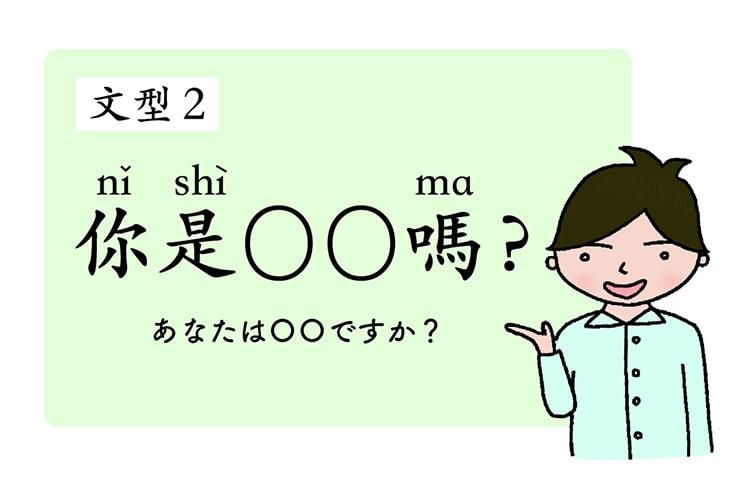 中国語の基本文型「你是OO嗎?(あなたはOOですか?)」