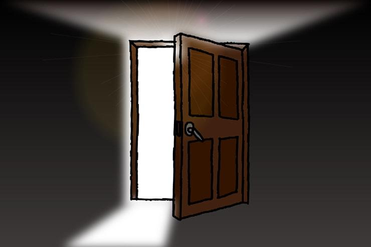 暗闇の中で開く扉