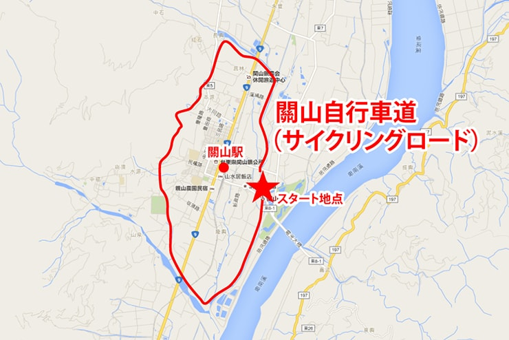 台東・關山のサイクリングロードマップ