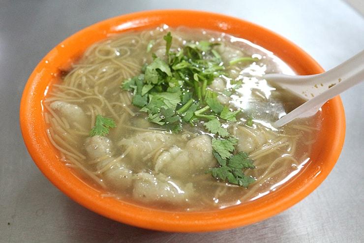 台北・永安市場「宜安路の麵線店」の麵線(台湾式そうめん)
