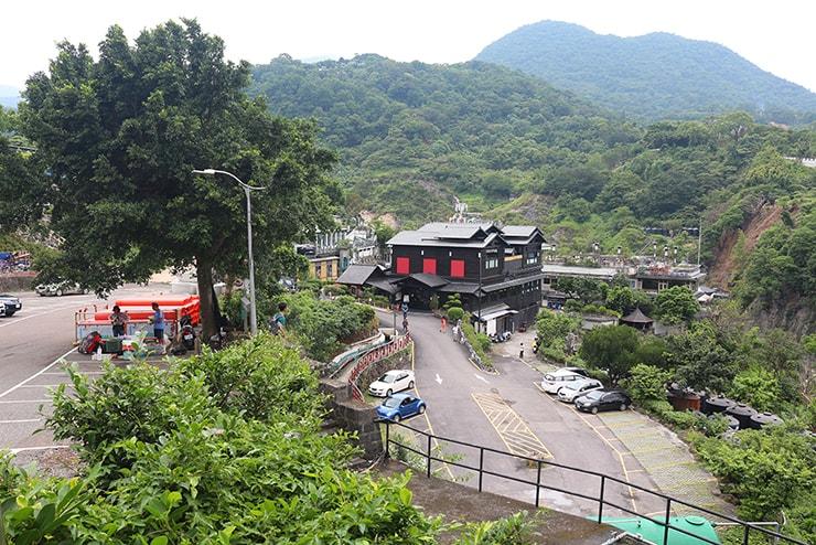 台北ゲイに人気の北投・行義路溫泉の遠景