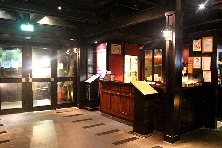 台北・行義路溫泉「湯瀬溫泉餐廳」のカウンター